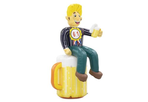 Opblaasbare Abraham pop op bierglas